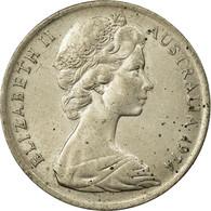Monnaie, Australie, Elizabeth II, 10 Cents, 1974, B+, Copper-nickel, KM:65 - Monnaie Décimale (1966-...)