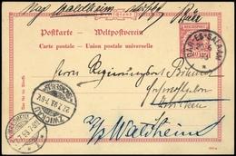 1893, Deutsche Kolonien Ostafrika, VP 25, Brief - Kolonie: Deutsch-Ostafrika