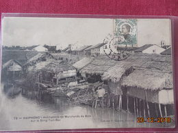 Carte D Indochine Avec Timbres Et Cachet D Haiphong - Lettres & Documents