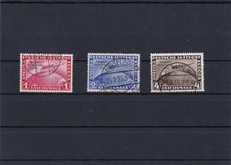 Deutsches Reich: MiNr. 496-498, Gestempelt, BPP Attest - Germany