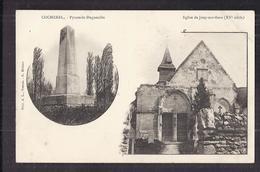 CPA 27 - COCHEREL - TB CP 2 Vues Dont Pyramide Duguesclin + Eglise De Jouy-sur-Eure - TB PLAN EDIFICE RELIGIEUX - Altri Comuni