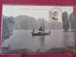 """Carte D Indochine Avec Timbre Et Cachet """"chateau D Eau"""" - Lettres & Documents"""