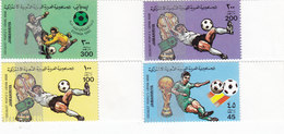 Libya World Cup[ Foot-Ball 4 Stamps Complete Set MNH- Nice Scarce Topical Issue- Reduced Pr. SKRILL PAY.ONLY - Libië