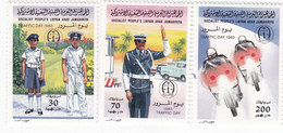 Libya 1983,Traffic Day Police- Moto,3stamps MNH Compl.set- Scarce - Reduced Price- SKRILL PAYMENT ONLY - Libië