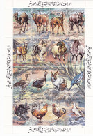 Libya Farm Animals, Sheetlet Of 16 Stamps,compl.MNH Ufolded - Scrace Topical - Red. Price- SKRILL PAY ONLY - Libië