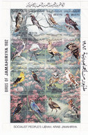 Libya 1982 Birds In Sheetlet Of 16 Stamps MNH Compl.Unfolded - Scarce Issue- Red. Price - Skrill Payment Only - Libië