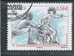 FRANCE 2010 CHAMPIONNATS DU MONDE D ESCRIME YT 4510 OBLITERE - - France