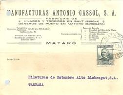 TARJETA COMERCIAL 1936 MATARO - 1931-50 Briefe U. Dokumente