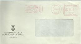 FRANQUEO MECANICO  2002  JACINT VERDAGUER   RIPOLL - Marcofilia - EMA ( Maquina De Huellas A Franquear)