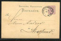 Deutsches Reich / 1879 / K1-Stempel Greifswald A. Postkarte (1/809) - Deutschland