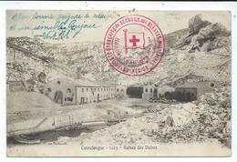 Marseille Cannelongue,ruines Des Usines,cachet Croix Rouge Militaire - Marseilles