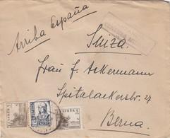 ESPAGNE LETTRE Arriba España => FRANCE CENSURE SANTANDER - 1931-Aujourd'hui: II. République - ....Juan Carlos I