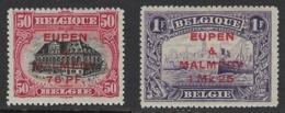 BELGIUM 1920 EUPEN & MALMEDY Nº 6/7 - Guerre 14-18
