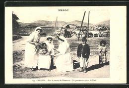AK Marina, Un Pansement Dans Le Bled, Schwestern Versorgen Blinde - Santé