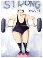 (777) Australia - Avanti Postcard - Strong Man (weight Lifting) - Haltérophilie