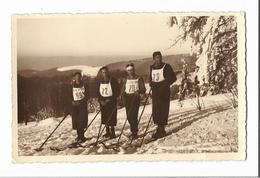 Photo Originale Concours De Ski Au  Champ Du Feu - équipe Du Ski Club Vosgien 96 STRASBOURG - Strasbourg
