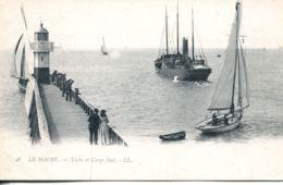 N°68093 -cpa Le Havre -yacht De Cargo Boat- - Commerce