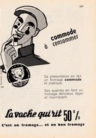 """Pub.1958 La Vache Qui Rit """"commode.à Consommer """" TBE - Advertising"""