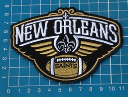"""NEW ORLEANS SAINTS PELICANS NFL FOOTBALL LOGO 4"""" JERSEY PATCH SEW EMBROIDERY - New Orleans Saints"""