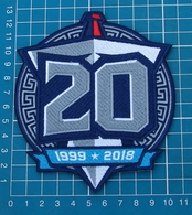 TENNESSEE TITANS 2018 20th ANNIVERSARY FOOTBALL NFL SUPERBOWL PATCH EMBROIDERED - New Orleans Saints