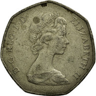 Monnaie, Grande-Bretagne, Elizabeth II, 50 Pence, 1973, TTB, Copper-nickel - 1971-… : Monnaies Décimales