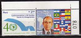 Peru Perou 2004 The 40th Anniversary Of Latin American Parliament.flags. MNH - Perù