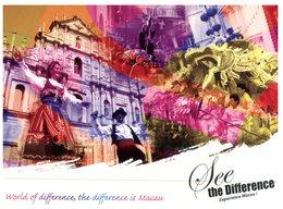 (777) Australia - Avanti Postcard - Macau See The Differene (show / / Culture / UNESCO Etc) - Cartes Postales