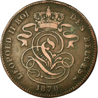 Monnaie, Belgique, Leopold II, 2 Centimes, 1870, TB, Cuivre, KM:35.1 - 1831-1865: Léopold I