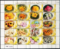 TA0052 Thailand 2013 Traditional Cuisine And Dim Sum Personalization Sheet MNH - Tailandia