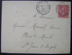 1906 Beauvais Sur Matha (Charente Inférieure), Provenance Boite Rurale, Voir Photos - Postmark Collection (Covers)