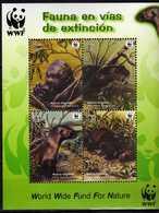 Peru Perou 2004 WWF Fauna Endangered Species - Giant Otter.S/S. MNH - Perù