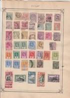 CEYLAN Lot Collection  2 Pages De Timbres Anciens  - Tous états Non Triés - Ceylan (...-1947)