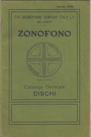 9128-ZONOFONO-CATALOGO GENERALE DISCHI-1906 - Libri, Riviste, Fumetti