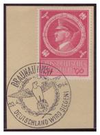 Dt-Reich (007384) Sonderstempel Auf Briefstück MNR 887, Braunau, Deutschland Wird Siegen, Gestempelt Am 20.4.1944 - Deutschland