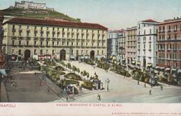 Italy Napoli Piazza Municipio E Castel S Elmo,Nuova, - Napoli (Naples)