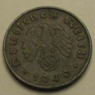 1940 - Allemagne - Germany - IIIè Reich - 10 REICHSPFENNIG, (A), KM 101 - 10 Reichspfennig