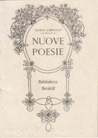 9129-GIOSUE' CARDUCCI - NUOVE POESIE - PUBBLICITA' BERTELLI - Non Classificati