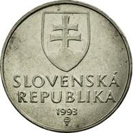 Monnaie, Slovaquie, 2 Koruna, 1993, TTB, Nickel Plated Steel, KM:13 - Slovakia