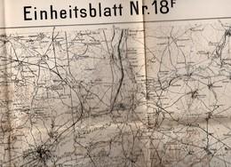 CARTE  ETAT MAJOR ALLEMAND FEVRIER  1918 Region  SOISSONS  NOYON  LAON  CHAUNY - Documents
