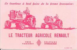 Buvard : Le Tracteur à Tout Faire De La Ferme Française : LE TRACTEUR AGRICOLE RENAULT - Agriculture