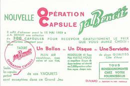 Buvard : Nouvelle Opération Capsule  Yaourt Ja. Benoit - Produits Laitiers