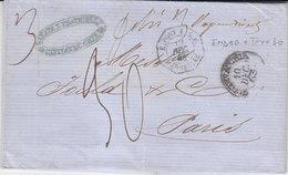 Italie Etats Pontificaux Marque D'entrée E-Pont1 5 E Marseille Noel N°809 - Marcofilia (sobres)