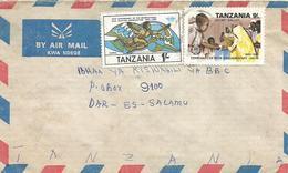 Tanzania 1990 Dar Es Salaam Elections Democracy Ballot IATA Domestic Cover - Tanzania (1964-...)
