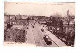 Tram Tramway Toulouse Vue Plongeante Sur Le Pont Neuf Et Clocher De La Dalbade Paire Attachée Timbres N°170 Cachet 1925 - Tramways