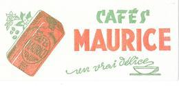 Buvard : Cafés MAURICE - TOULON - Un Vrai Délice - Coffee & Tea