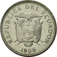 Monnaie, Équateur, Sucre, Un, 1986, TTB, Nickel Clad Steel, KM:85.2 - Equateur