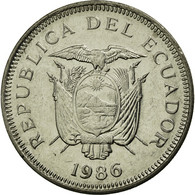 Monnaie, Équateur, Sucre, Un, 1986, TTB, Nickel Clad Steel, KM:85.2 - Ecuador