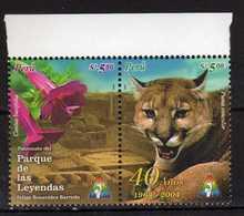 Peru Perou 2005 The 40th Anniversary Of Las Leyendas Park.animals.cats.flowers. MNH - Peru