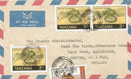 Tanzania 1988 Mwanza Black Striped Grass Snake Natrix Natrix Boxing Cover - Slangen