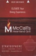 Carte Clé Hôtel Avec Casino Adjoint : Stratosphere Las Vegas : McCall's Heartland Grill - Cartes D'hotel